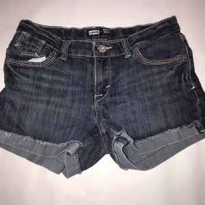 Girls size 12 levi's shorts